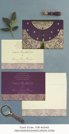 Indian Wedding Invitations, Vintage Wedding Invitations, Printable Wedding Invitations, Hindu Wedding Cards, Arab Wedding, Wedding Color Schemes, Wedding Colors, Leather Bag, Brown Leather