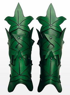 Elf Greaves green