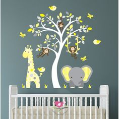 Elephant & Giraffe Yellow & Grey Nursery £84.95   http://www.babynotincluded.co.uk/latest-products/elephant-giraffe-yellow-grey-nursery.html