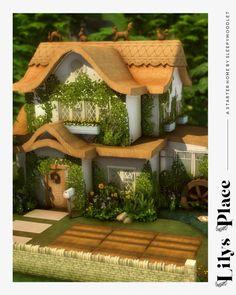 Sims 4 Build, Peaceful Places, Cottage Living, Sims Cc, Garden Bridge, Gazebo, Outdoor Structures, Building, Kiosk
