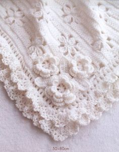 This gorgeous Crochet Baby Blanket has a Free pattern