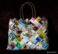 Handwoven Scrapbooking Bag by marciescraft on Etsy