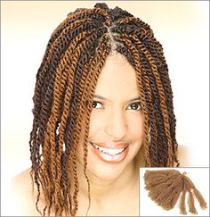 Marley Braid Human Hair | Braids Braided w/Afro Kinky Hair Acceptable