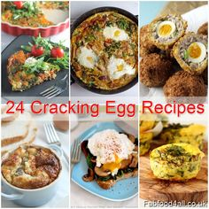 24 Cracking Egg Recipes from snacks and brunch to main courses and desserts - a fantastic at a glance egg recipe guide!