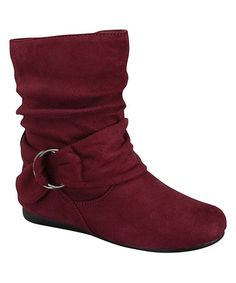 Another great find on #zulily! Burgundy Ring Harness Selena Boot #zulilyfinds