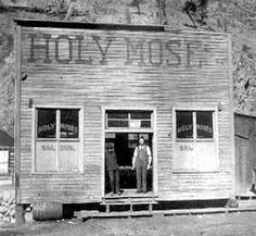 the Holy Moses Saloon in Creede Colorado  1890