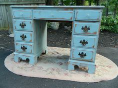 "Gracie's Cottage       *OMi~RuSTiC*FaRM CHiC~FReNCH CouNTRY DeSK~*SOLD* ‎*FiNiSHeD ALL THe WaY ARouND* 30 1/2""tall, 20""deep, 43""wide —"