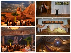 """""""A Night on the Nile"""" themed Prom by www.idealpartydecorators.com"""