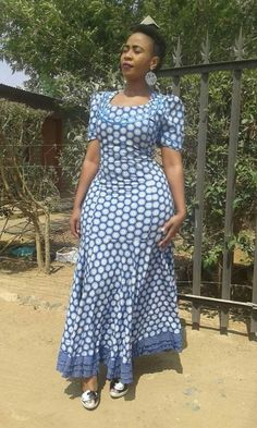 Here are some Beautiful South African shweshwe dress designs 2019 Collection you. - Here are some Beautiful South African shweshwe dress designs 2019 Collection you can styles your An Source by kabeshpurity - African Wear Dresses, Latest African Fashion Dresses, African Print Fashion, African Attire, Seshoeshoe Designs, Dress Designs, Shweshwe Dresses, African Traditional Dresses, Frack