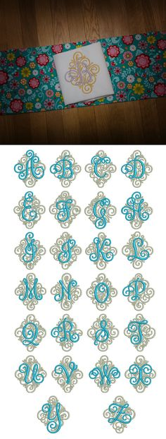 Adorn Ornamental Monogram available for instant download at www.designsbyjuju.com
