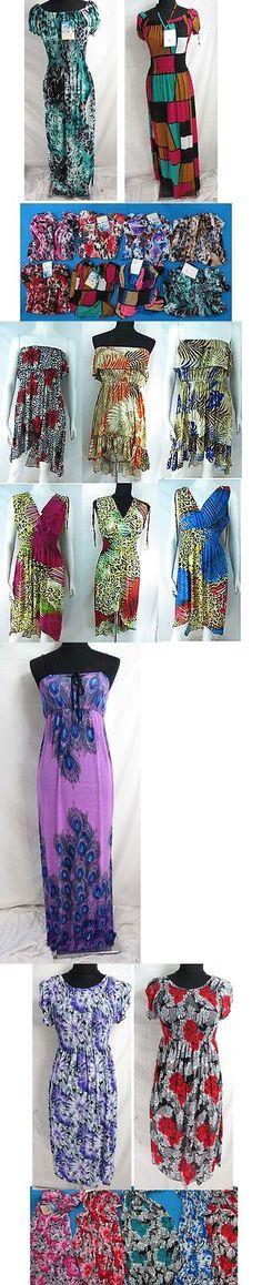 Dresses 50986: Us Seller-Lot Of 12 Summer Beach Wear Bohemian Retro Vintage Paisley Short Dress -> BUY IT NOW ONLY: $89 on eBay!