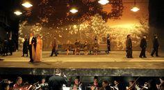 """Amazing minimalist """"Cosi Fan Tutte"""" set at the New York City Opera Opera News, Lynch, Ny Times, Plays, New York City, Theater, Blood, Stage, Minimalist"""