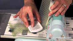Stephanie Barnard - Stamping Class - Inking with Embossing Folders