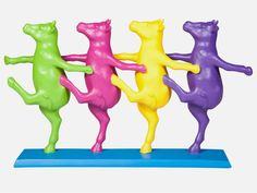 Figurka Dekoracyjna Dancing Cows kolorowa — Figurki dekoracyjne Kare Design — sfmeble.pl