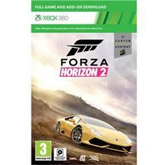 Console Xbox 360 500GB + Jogo Forza Horizon 2 (Download via Xbox Live) - Preto