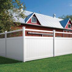 Veranda Pro Series 6 ft. x 8 ft. Woodbridge Baluster Top Unassembled Vinyl Fence Panel-244551 - The Home Depot