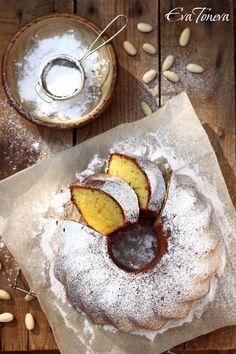 - Almond Bundt Cake -  with sour cream,amaretto liquier