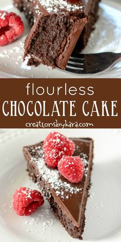 Easy Flourless Chocolate Cake is dense, rich, and fudgy. A must try chocolate ca… Easy Flourless Chocolate Cake is dense, rich, and fudgy. A must try chocolate cake that happens to be gluten free. Chocolate ganache glaze makes it even more decadent! Best Flourless Chocolate Cake, Gluten Free Chocolate Cake, Flourless Chocolate Cakes, Cake Chocolate, Easy Chocolate Recipes, Flourless Desserts, Healthy Chocolate Cakes, Delicious Chocolate Cake, Fancy Chocolate Desserts