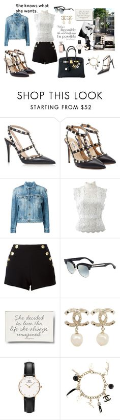 """GIRL ALMIGHTY"" by maryanacoolstyles ❤ liked on Polyvore featuring Valentino, Yves Saint Laurent, Oscar de la Renta, Boutique Moschino, Fendi, Ben's Garden, Chanel, Daniel Wellington and Hermès"