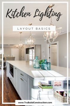 Kitchen Lighting Layout Basics - If you're planning a kitchen remodel, you're probably wondering what the best layout is for your space.  Should you have recessed lighting, pendant lights or under cabinet lighting? We talk you through the basics for creating your own perfect space! #kitchenremodel #remodel #kitchenlights #recessedlights #pendantlights #undercabinetlights
