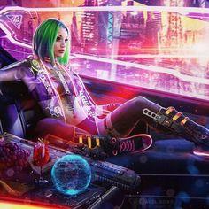 48 ideas science fiction future cyberpunk for 2019 Cyberpunk 2077, Cyberpunk Girl, Arte Cyberpunk, Cyberpunk Games, Cyberpunk Fashion, Arte Lowrider, Cyberpunk Aesthetic, Neon Aesthetic, Fan Art