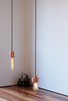 copper lights, these are beautiful with the bare filament type bulbs