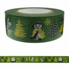 【ムーミン】マスキングテープ(ムーミン谷の仲間たち/オリーブ)moo-nk006