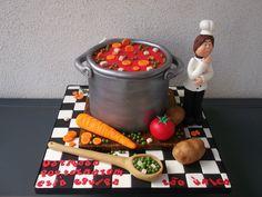 """Bolo """"O Cozinheiro"""" - by Alexsandra Caldeira @ CakesDecor.com - cake decorating website"""