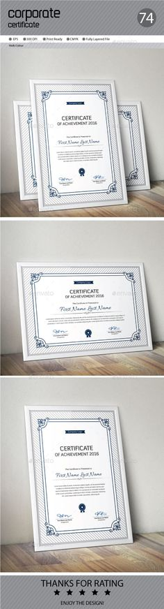 #Certificate - Certificates #Stationery Download here: https://graphicriver.net/item/certificate/18092913?ref=alena994