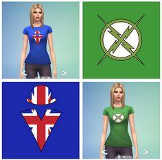 XRay and Vav Shirts for females at RTS4CC via Sims 4 Updates