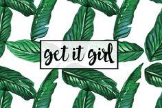 Palm Tree Get it Girl Desktop Wallpaper DESIGNED BY @daniellemarieyt on Instagram