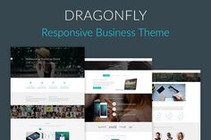 DRAGONFLY RESPONSIVE BUSINESS THEME by Bootstrap Themes on @graphicsmag