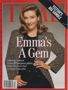 Emma Thompson Time cover March 1993 Photography by Terry O'Neill