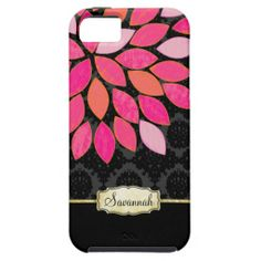 Personalized Orange Pink Black Gold iPhone Case iPhone 5 Cases