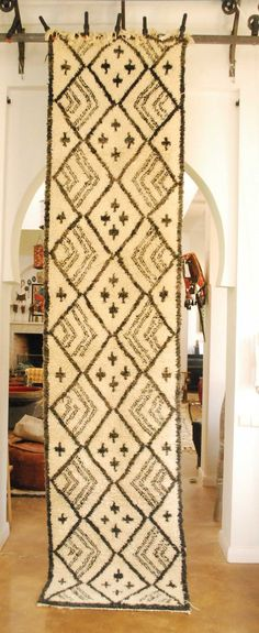 Love this GREAT Moroccan carpet runner with its super cool cross patterns. From Red Thread Souk, www.redthreadsouk.com