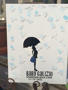 Baby Shower Fingerprint, Finger Painting, Guest List, Thalia, Sprinkles, Shower Ideas, Amanda, Canvas, Tela