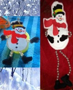 """Beaded Snowman! This is one """"cool"""" guy! He comes in 4 sizes! 4x4---5x7---6x10---8x12"""