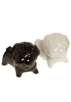 Pug Salt & Pepper Shakers