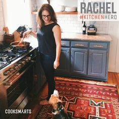 "Rachel: ""I am always proud when my kitchen produces food that my family and friends enjoy. Nothing makes me happier than sitting around the table with the people I love, sharing a great meal and some laughs."" 