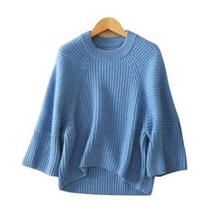 100% cashmere fashion pullovers women's solid color O-neck batwing sleeves warm keeping thick knitting sweaters