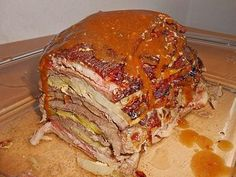 Nicis Rouladen-Schichtbraten - list of healthy recipes Healthy Meat Recipes, Cooking Recipes, Cheap Meals, Easy Meals, Potted Meat Recipe, Grilled Meat, Evening Meals, Carne, Roast