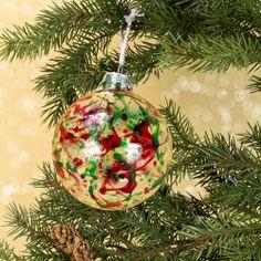 Christmas Splatter Ornament project from DecoArt