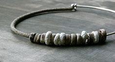 handmade porcelain beads with a very fine crochet tube by Zsazsazsu