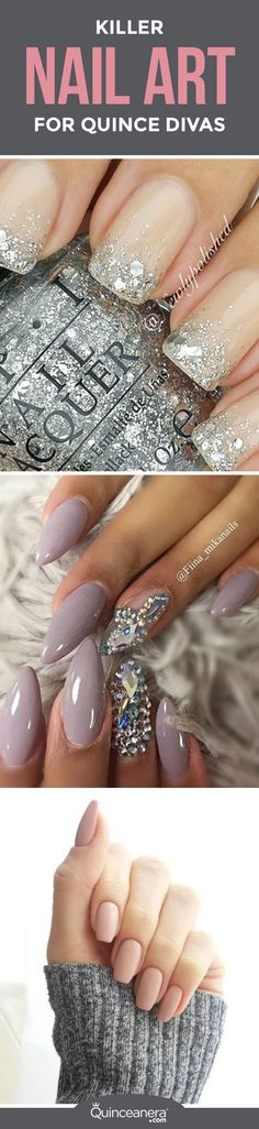 The latest trends in nail art can have you confused about which style to wear for your quinceañera. - See more at: http://www.quinceanera.com/make-up/killer-nail-art-for-glammed-up-quince-divas/#sthash.IxXfpBO3.dpuf