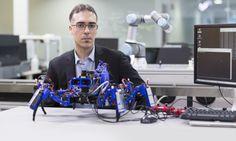 Ein Haufen kleiner, spinnenähnlicher Maschinen mit 3D-Druckern krabbelt herum und lässt so Stück für Stück Produkte entstehen: Dieses Konzept verfolgt ein Siemens-Labor in den USA.