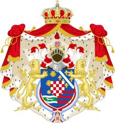 Disclaimer: In no way do I support or condone the barbaric regime of the Ustasa or fascism in general. I just make heraldry. Fictional coat of arms for an Independent State of Croatia in wich Tomis...