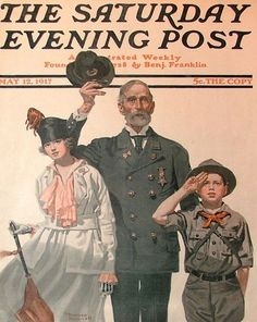 "Norman Rockwell - ""Ready To Serve"" Saturday Evening Post cover May 12, 1917"