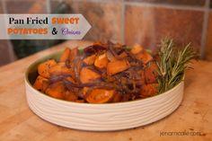 Pan Fried Sweet Potatoes & Onion