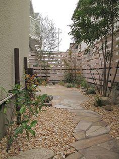 Fence Gate, Walkway, Garden Paths, Backyard Landscaping, Landscape Design, Sidewalk, New Homes, Exterior, Architecture