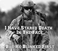 I feel this quote means that our military men are stronger than you will ever think. I think this also means that they are not scared of death because they know whats right and they know they have to defend out country. Military Quotes, Military Humor, Military Love, Army Quotes, Pomes, My Champion, Warrior Quotes, Army Life, Army Mom
